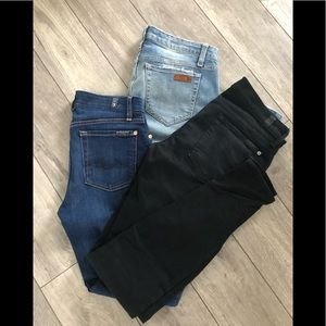 Jeans!! Seven for all mankind and Joe's jeans!